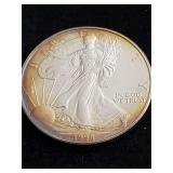 1998  Silver Eagle Silver Dollar with toning