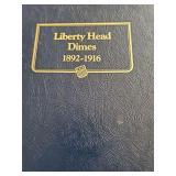 (9) Liberty Head Dimes in book