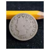 Very Rare 1885 V Nickel