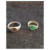(2)  Vintage Rings Mickey Mouse & CTR