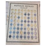 (37) Buffalo Nickels on sheet