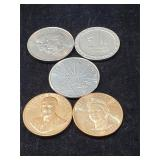 (5) Collectable Tokens