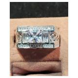 .925 Sterling & CZ Ring size 10