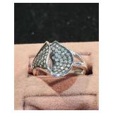 Cubic Zircon Sterling Ring size 7