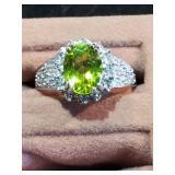 Sterling Gemstone Ring size 7