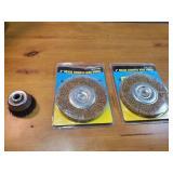 """6"""" Brass Crimped Wire Wheels & Steel Wheel"""
