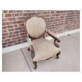 Antique Roller Chair (Missing Wheel included)