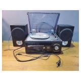 Vintage Record Player w/Speakers