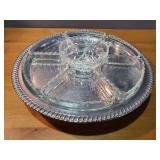 Decorative Metal Plate and Glass Dishware