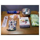 Glass Bowl Set, Metal Bowl, Gloves, Thermometer