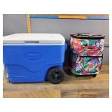 Cooler and Suit Case