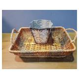 Woven Basket and Vase