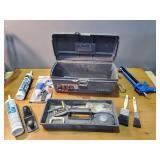 Calk Gun, Wood Shaver, Toolbox & Misc