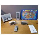Alarm Clocks, Picture Frame, Magnetic Map