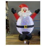 4ft Tall Blow Up Santa