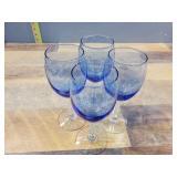 4 Piece Glass Cup Set