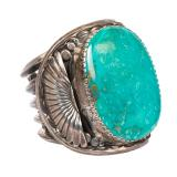 Ernest Bilagody Navajo Sterling Silver Turquoise Cuff