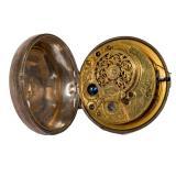 19th C. Verge Sterling Silver Pocket Watch