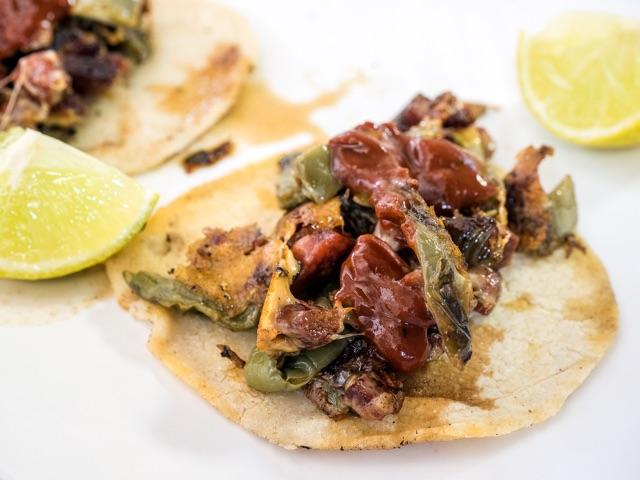 Tacos de chirozo con nopales