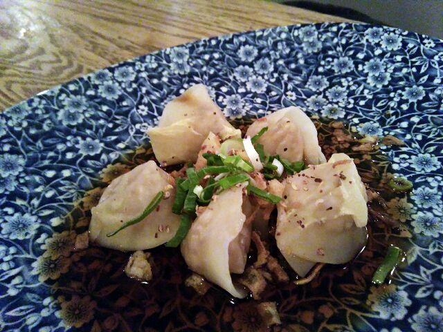 Dumplings de pollo y gambas
