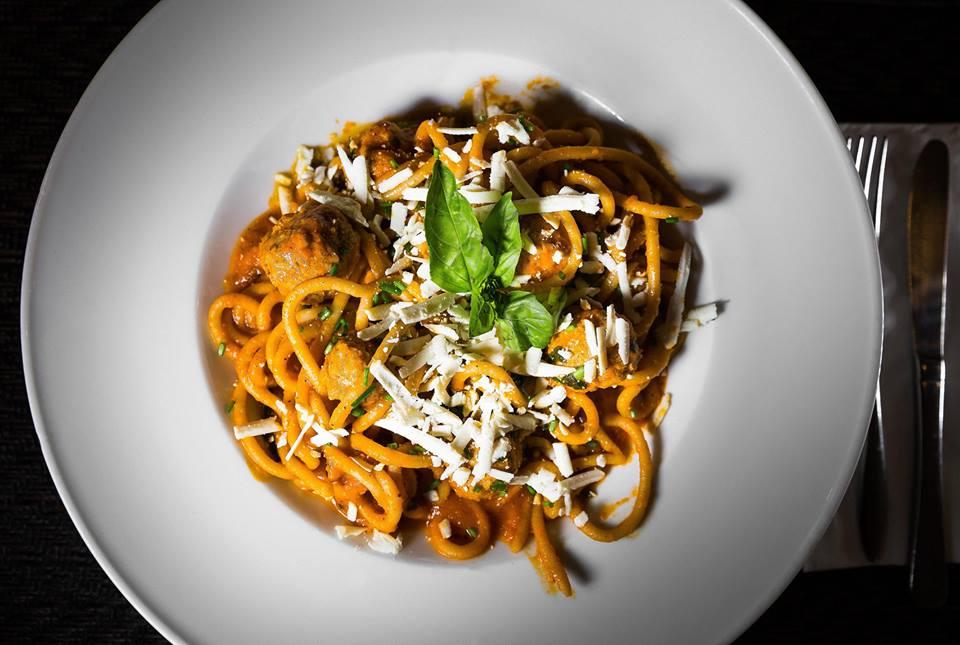 """Spaghetti meatballs """"omaggio alla cultura italo-americana"""""""
