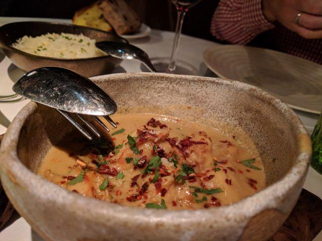 Curry de langostinos de río al coco