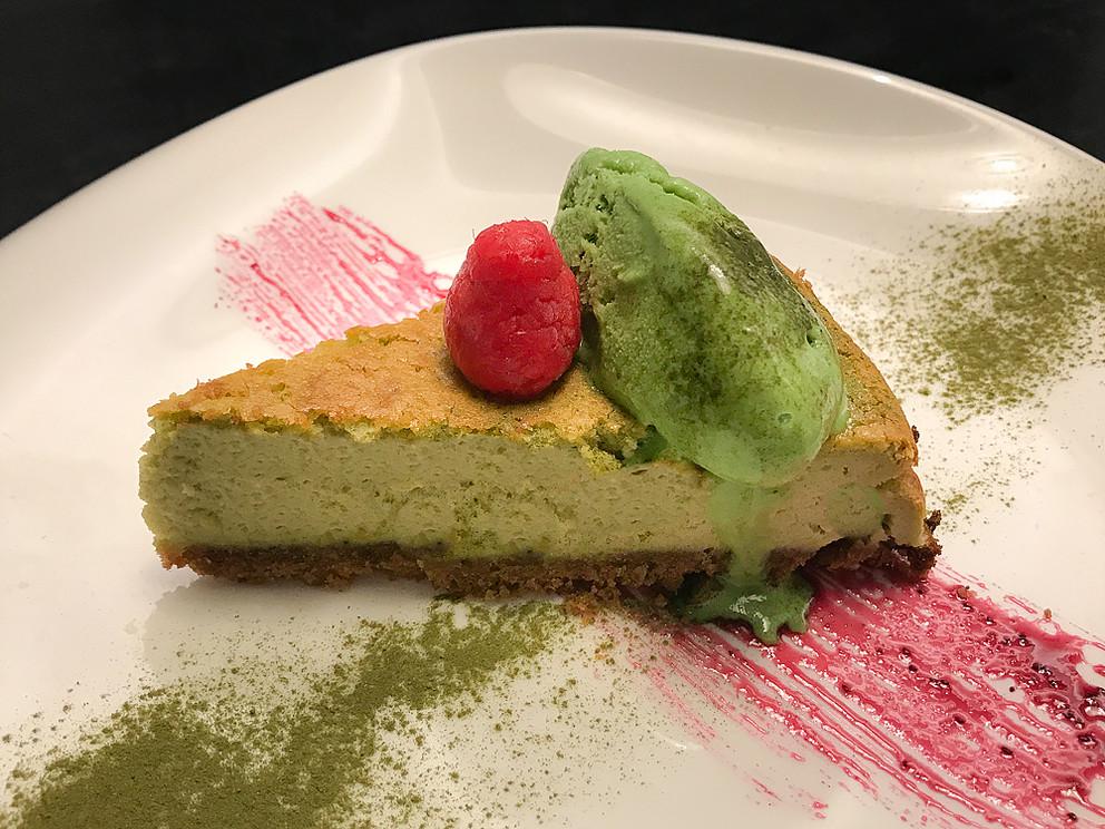 Tarta de queso té verde