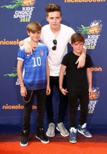 Romeo-James-Beckham-Brooklyn-Joseph-Beckham-Cruz-David-Bekham-attend-the-Nickelodeon-Kids-Choice-Sports-Awards-2015-in