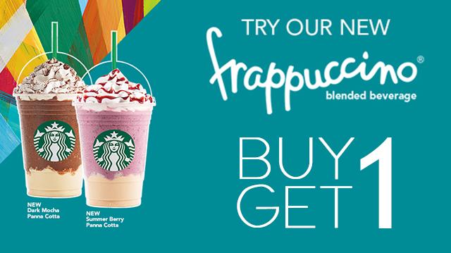 Starbucks Buy 1 Get 1 Summer 2015