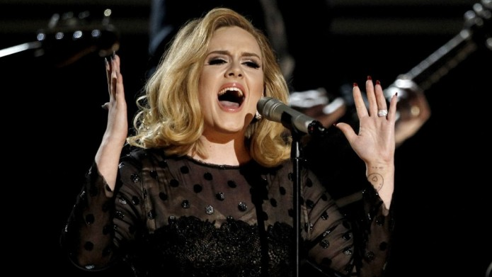 during the 54th annual Grammy Awards on Sunday, Feb. 12, 2012 in Los Angeles. (AP Photo/Matt Sayles)
