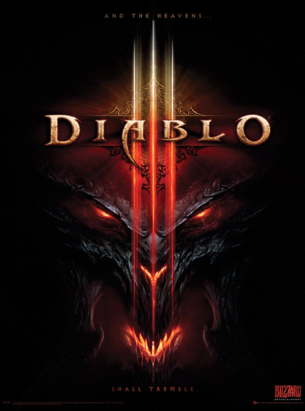 game cover of Diablo III.