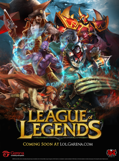 game cover of League Of Legends.