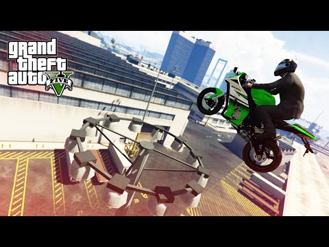 GTA V Stunts & Fails - Epic Motorbike Stunt!