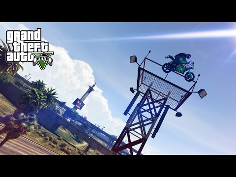 GTA V Stunts & Fails - Insane Motorbike Stunt!