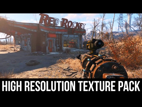 Fallout 4 - High Resolution Texture Pack 4K Gameplay