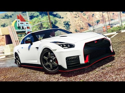 AMAZING NISSAN GT-R STUNT! - (GTA 5 Stunts & Fails)