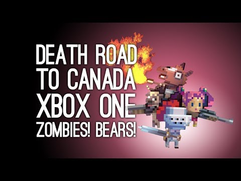 Death Road to Canada Gameplay: ZOMBIES, BEARS AND GIANT FARTS MONTHLY