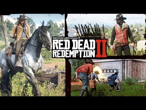 Red Dead Redemption 2 - NEW IMAGES! Outfits! Customization! RPG Elements! New Gameplay Details!