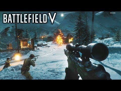 Battlefield 5 - NEW MULTIPLAYER GAMEPLAY! Sniper Action! Classes and Weapons!