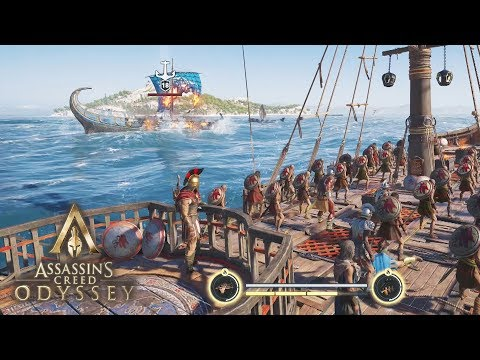 Assassin's Creed Odyssey - NEW NAVAL GAMEPLAY! Spartans on the Water! Ship Battle Walkthrough!