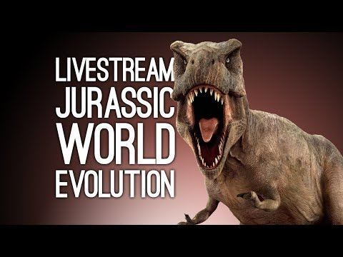 Jurassic World Evolution Live! We Play Jurassic World Evolution on Xbox One Live from Loading Bar