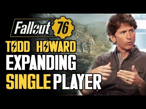 Fallout 76 - Todd Howard on Expanding Single Player!  Mods and Why Multiplayer?