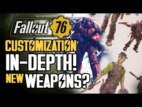 Fallout 76 - Character Customization IN-DEPTH! Power Armor, Paint! Lost Weapons from Fallout 4 Art!
