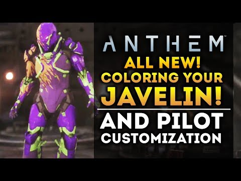 Anthem - ALL NEW Customization Info! Color Wheel! Gender! Cosmetics and Microtransactions!