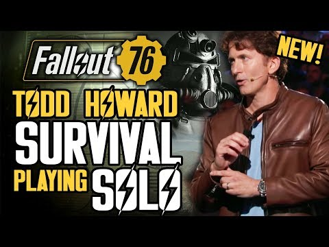 Fallout 76 - Todd Howard on Survival Mechanics! Playing Solo and Single Player! Mutants and More!