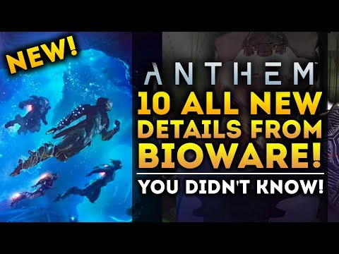 Anthem Game - 10 ALL NEW Details You Didn't Know From Bioware!