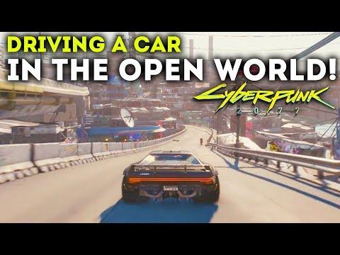 Cyberpunk 2077 - Driving A Car in The Open World! New Free Roam Gameplay Walkthrough!