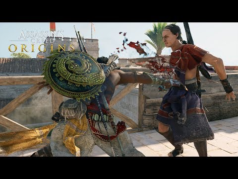Assassin's Creed: Origins Stealth Action Kills Gameplay - Assassinating Gennadios The Phylakitai