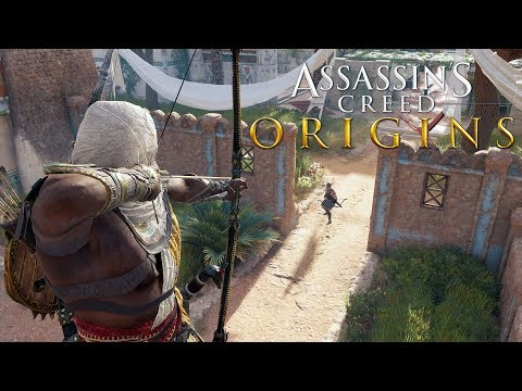Assassin's Creed: Origins Stealth Kills Gameplay - Assassinating Medunamun
