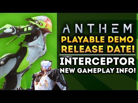ANTHEM - Playable Demo Release Date Revealed! Beta, Interceptor, Storm Javelin! New Gameplay Info!